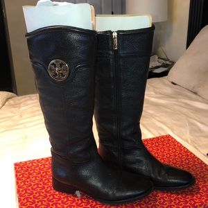 Selma Riding boot- tumbled leather
